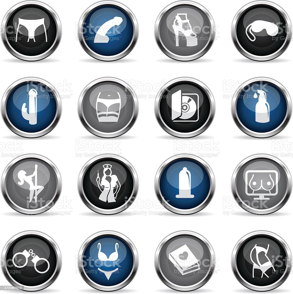 Supergloss Icons - Sex Industry vector art illustration