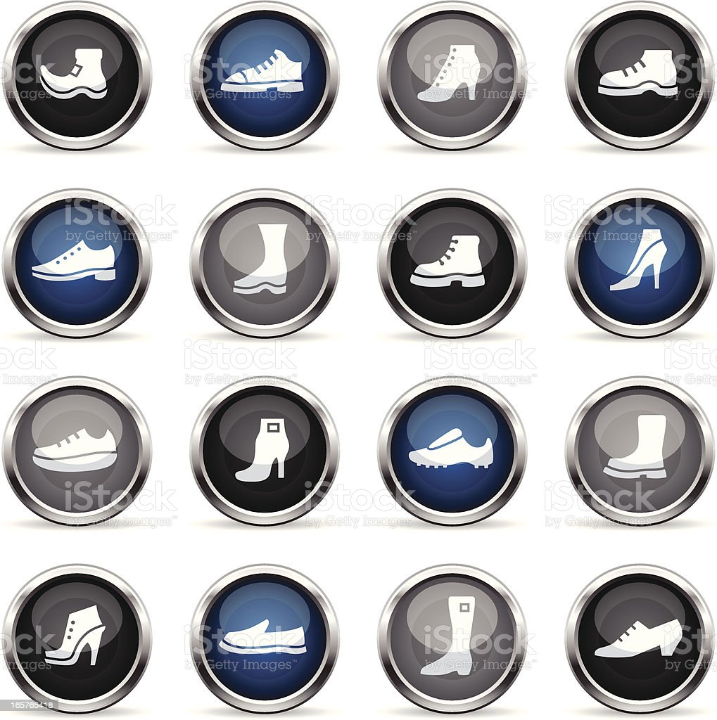 Supergloss Icons - Shoes vector art illustration