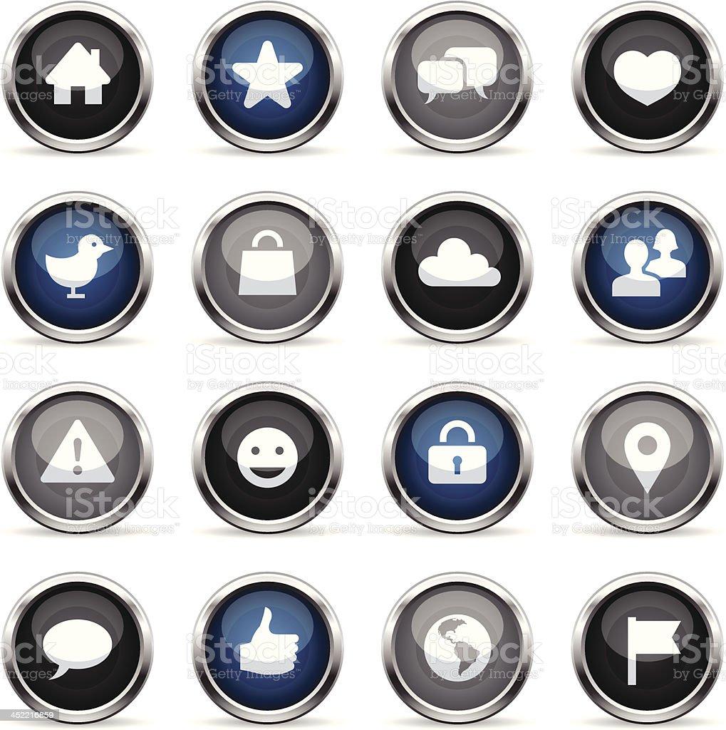 Supergloss Icons - Social Network royalty-free stock vector art