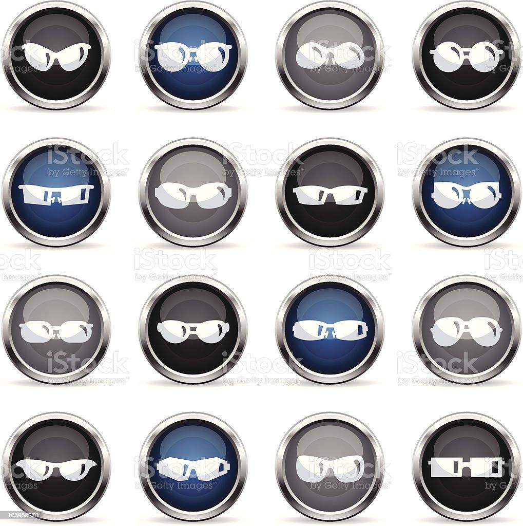 Supergloss Icons - Sunglasses vector art illustration