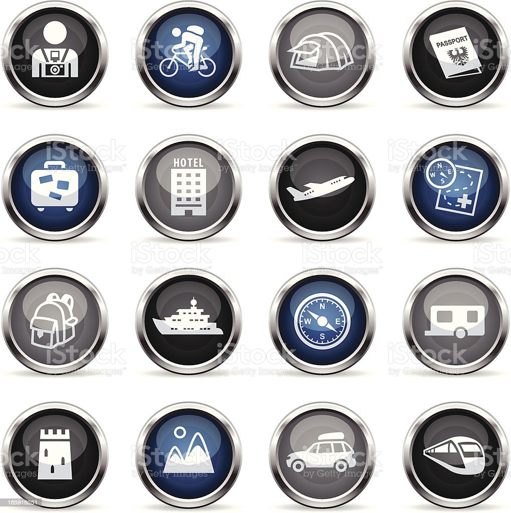 Supergloss Icons - Tourism royalty-free stock vector art