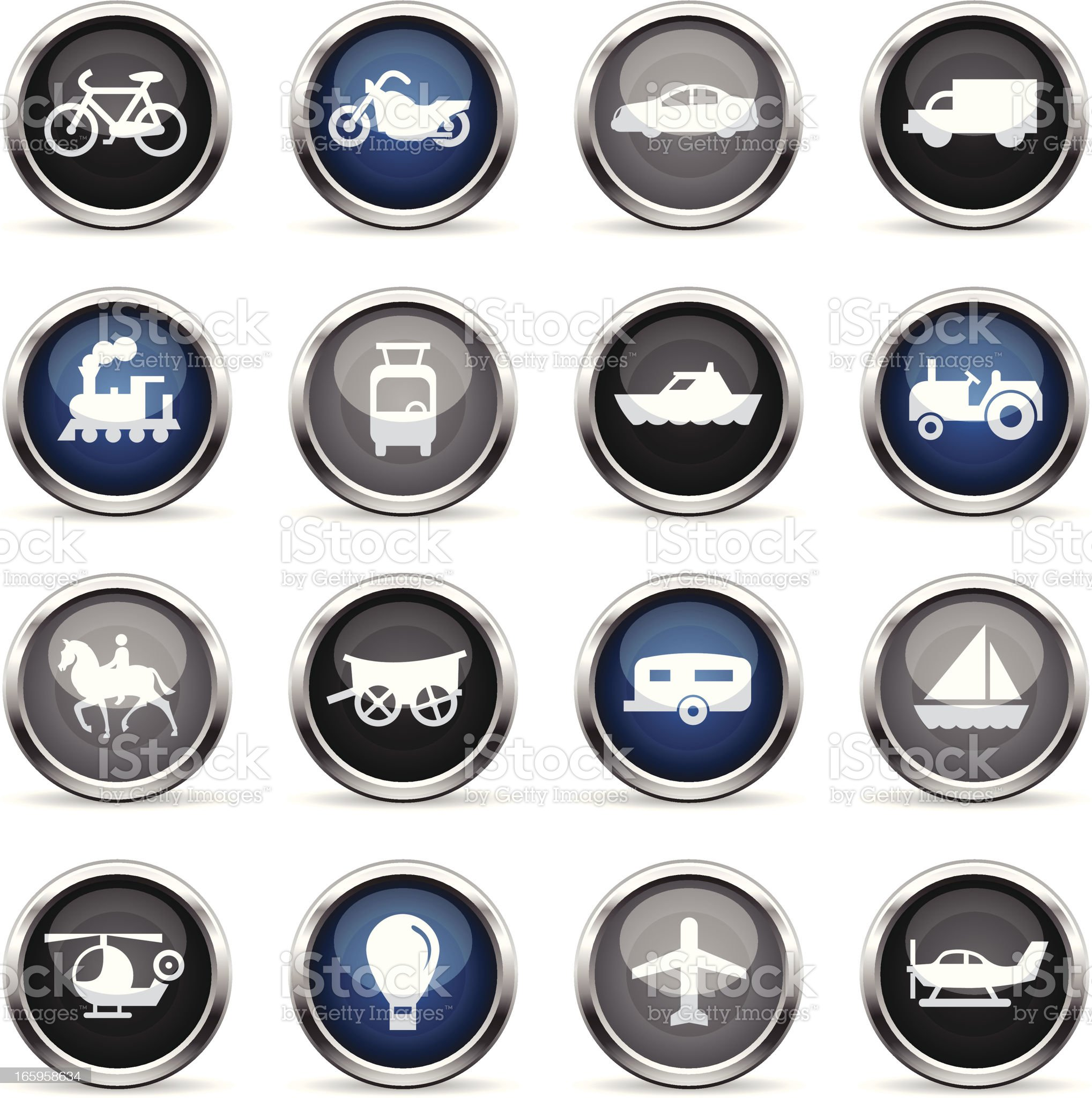 Supergloss Icons - Transportation royalty-free stock vector art