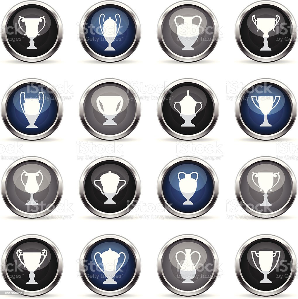 Supergloss Icons - Trophies royalty-free stock vector art