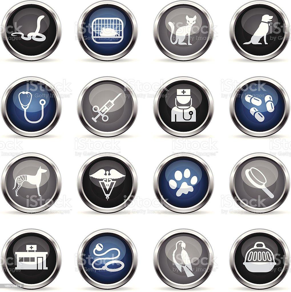 Supergloss Icons - Veterinary royalty-free stock vector art