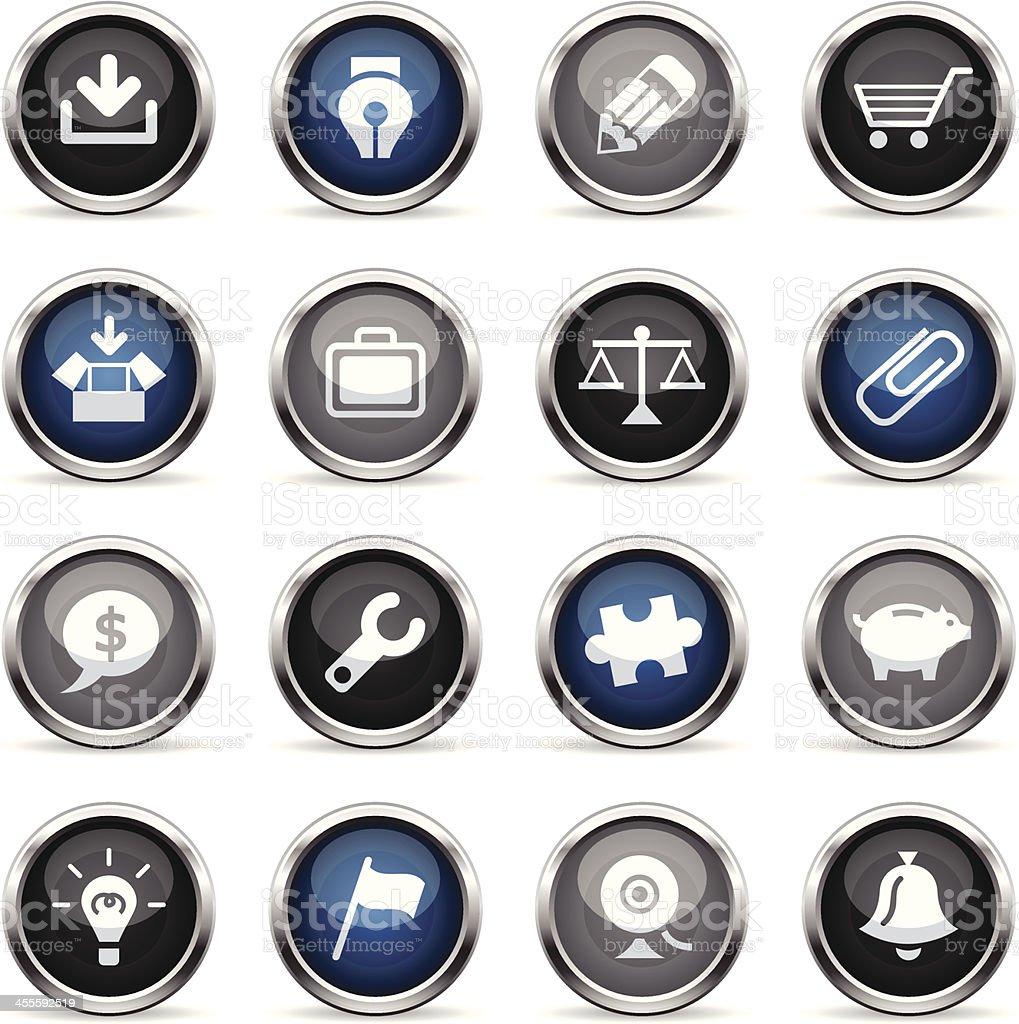 Supergloss Icons - Web royalty-free stock vector art