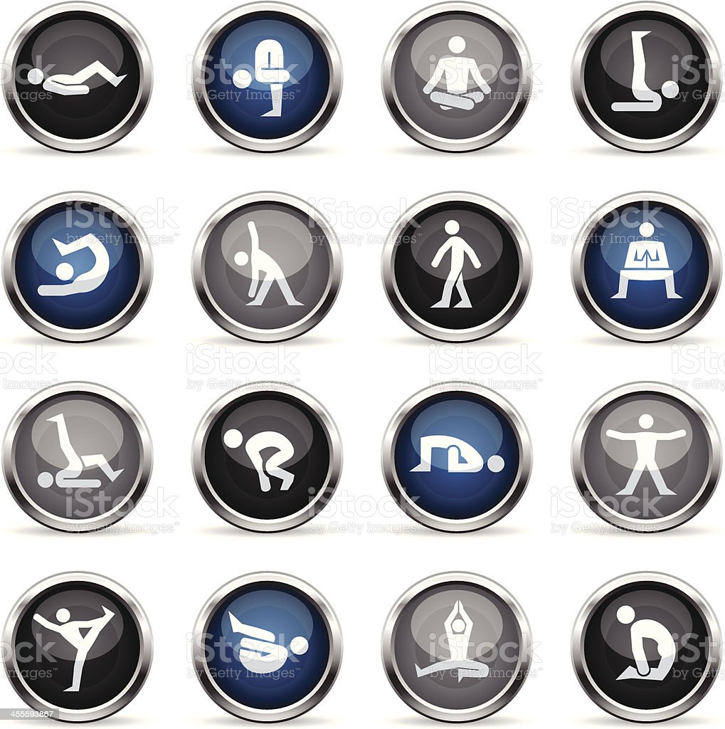 Supergloss Icons - Yoga royalty-free stock vector art