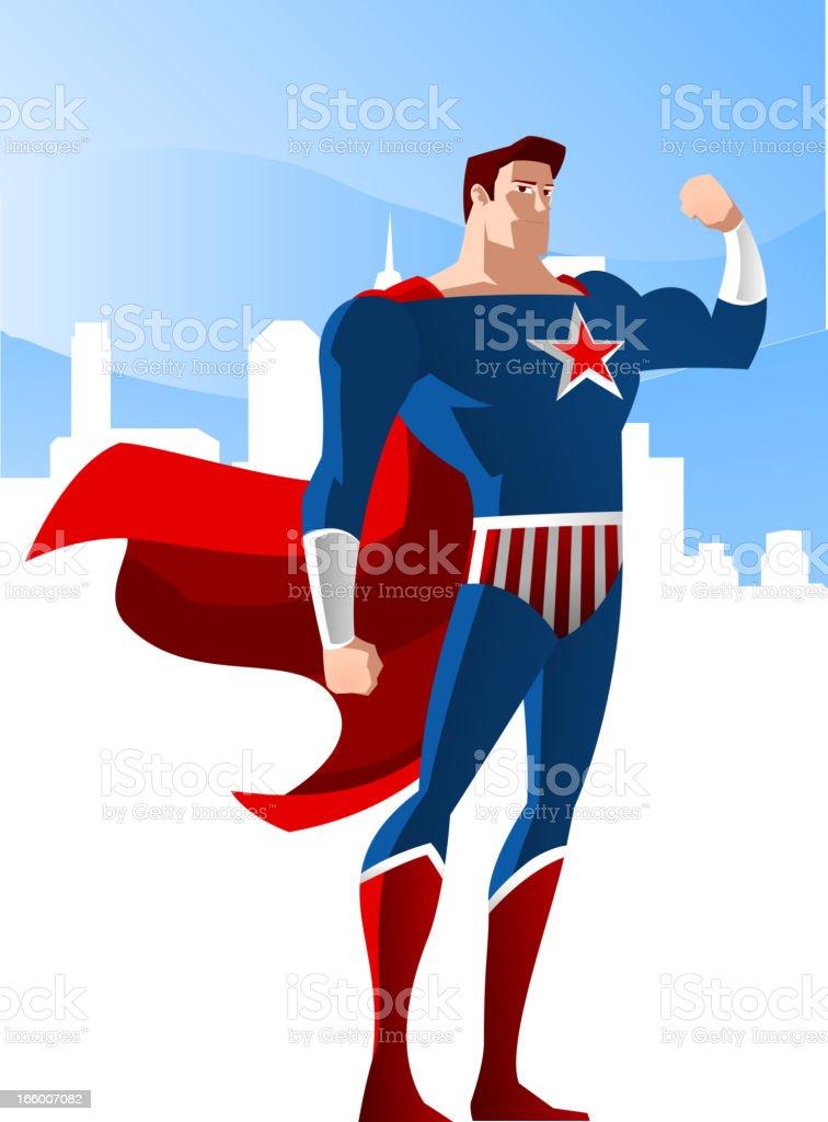 USA Superhero 2 royalty-free stock vector art