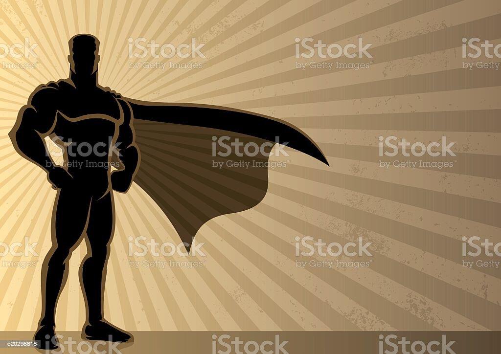 Superhero Background vector art illustration