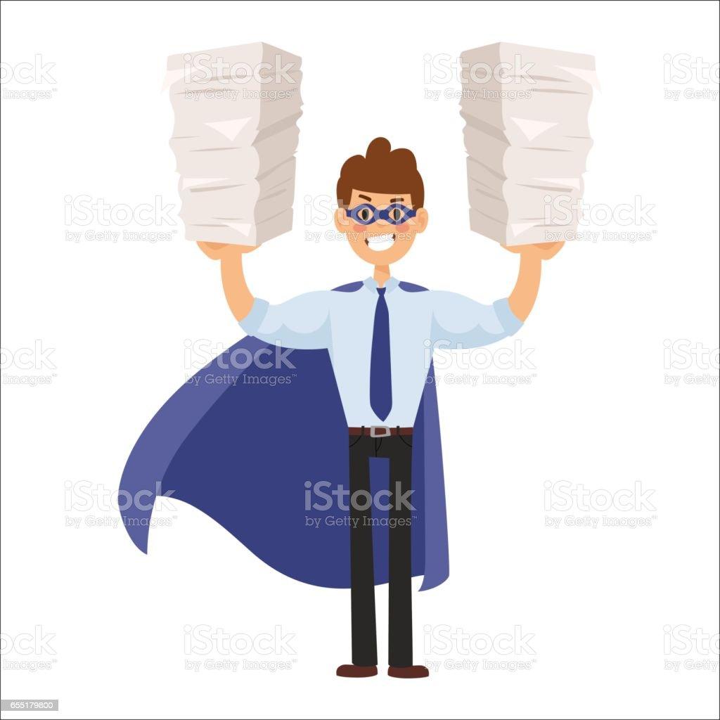 Superhero business man vector vector art illustration
