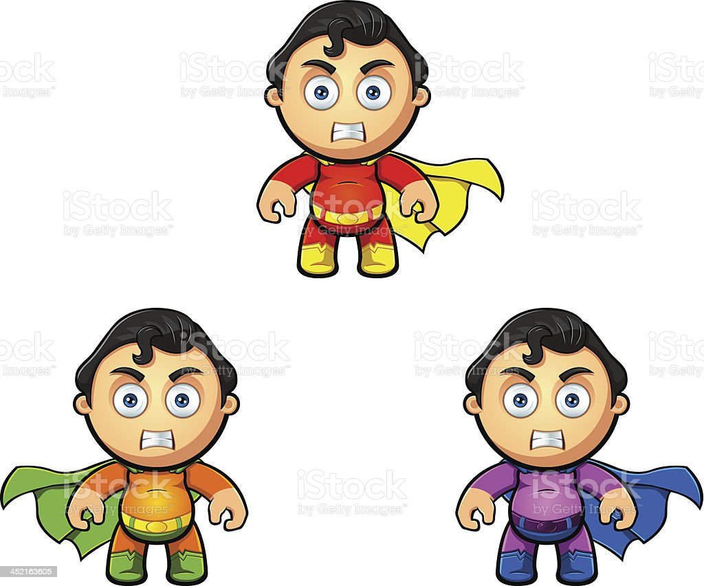 Superhero Character - Looking Angry royalty-free stock vector art