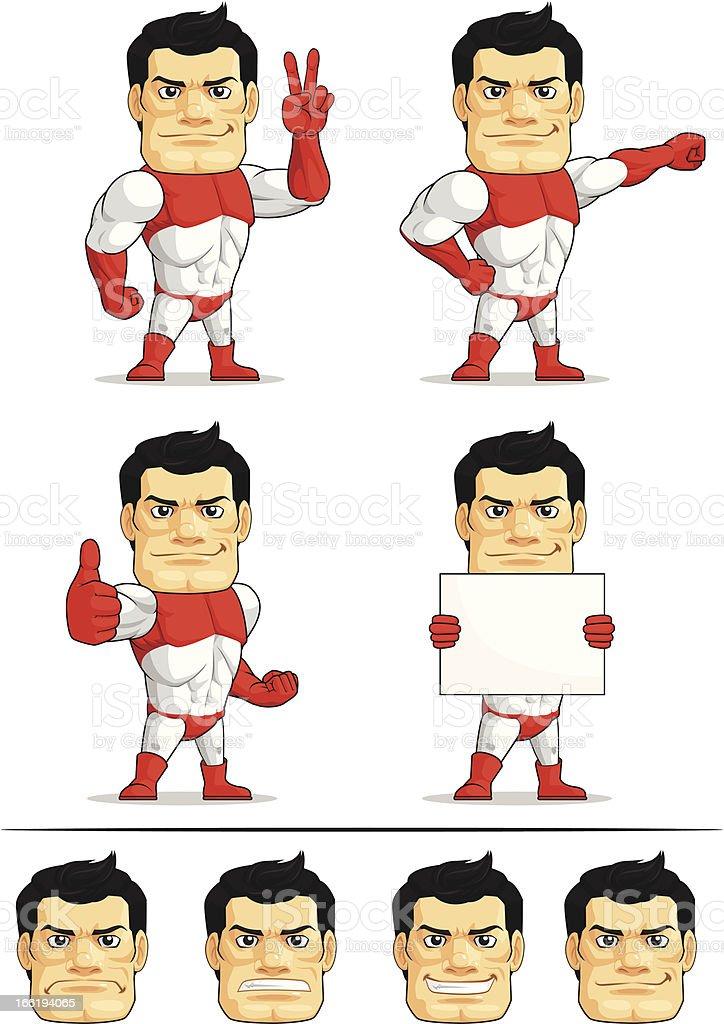 Superhero Customizable Mascot 3 royalty-free stock vector art