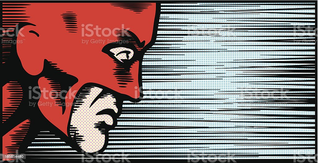Superhero face profile royalty-free stock vector art