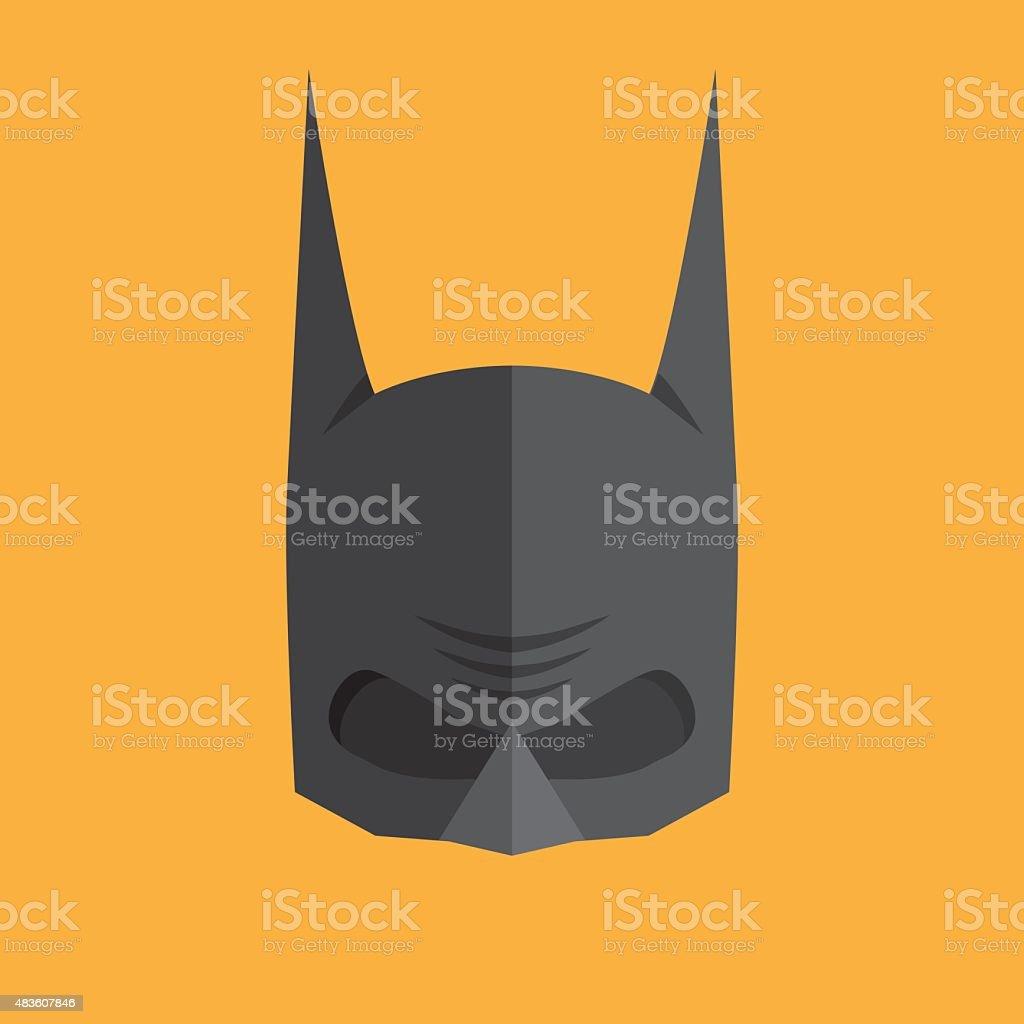 Superhero flat style icon vector art illustration