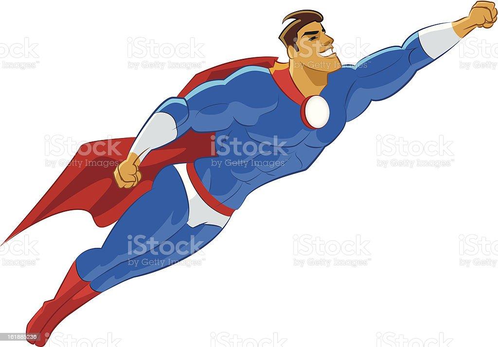 Superhero flying vector art illustration Superhero Flying Vector
