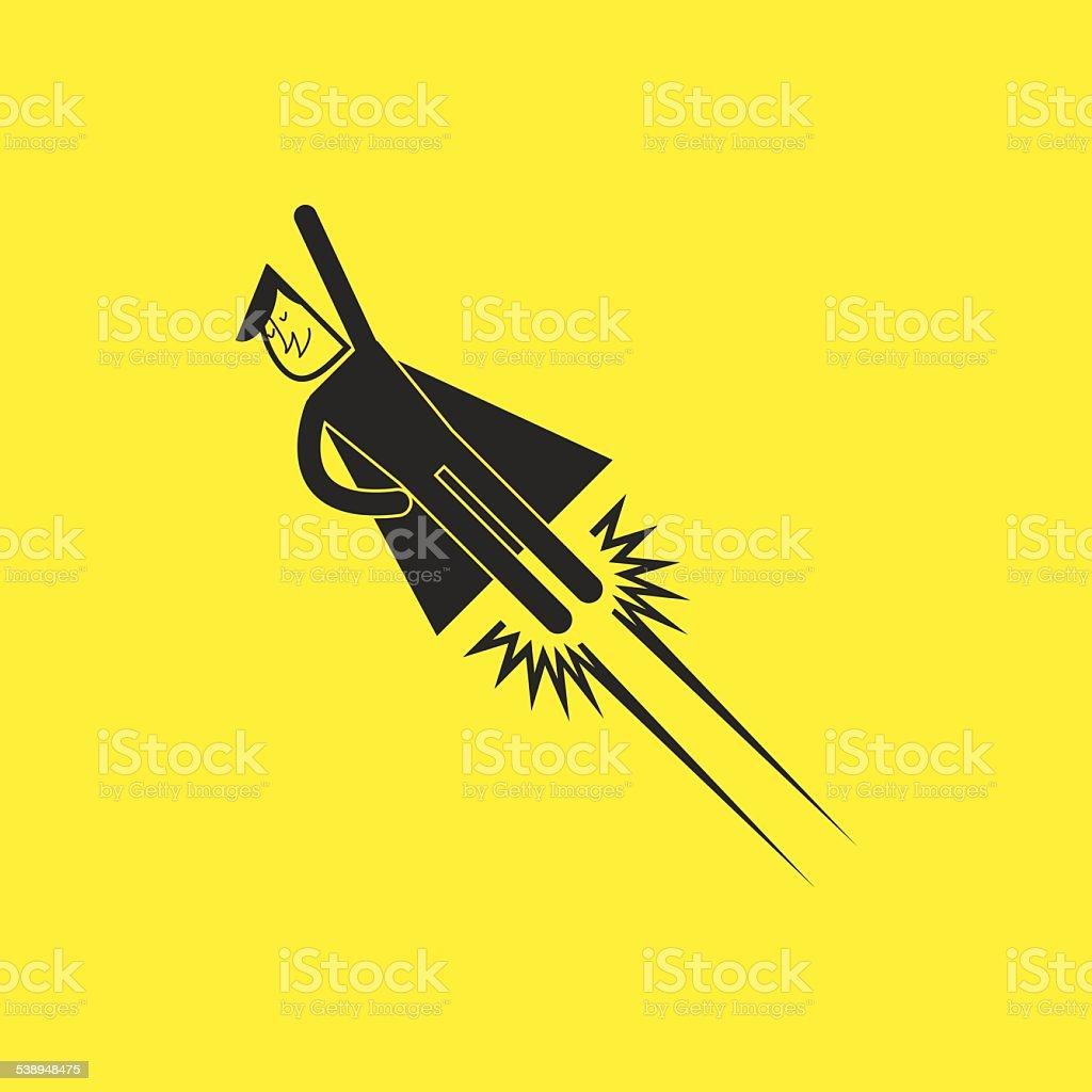 superhero icons vector art illustration