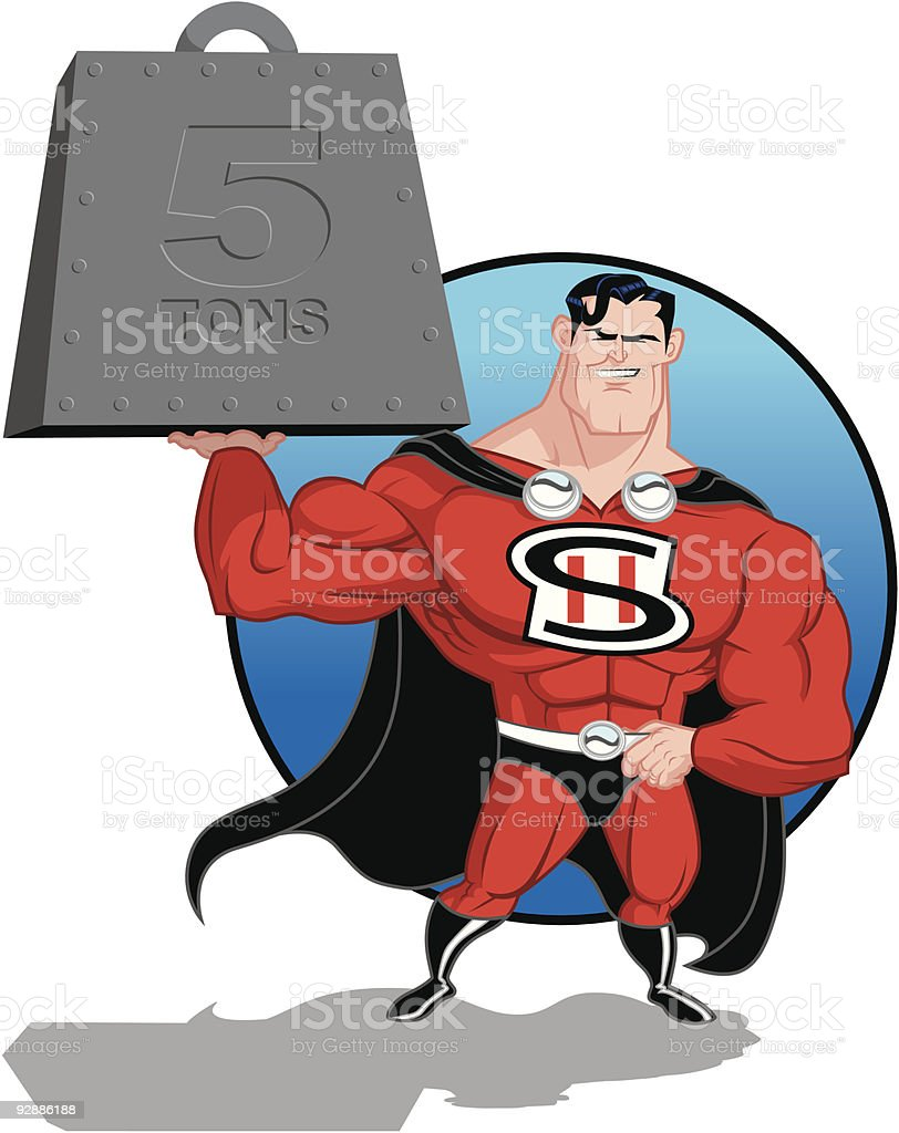 Super-Hero Lifting royalty-free stock vector art