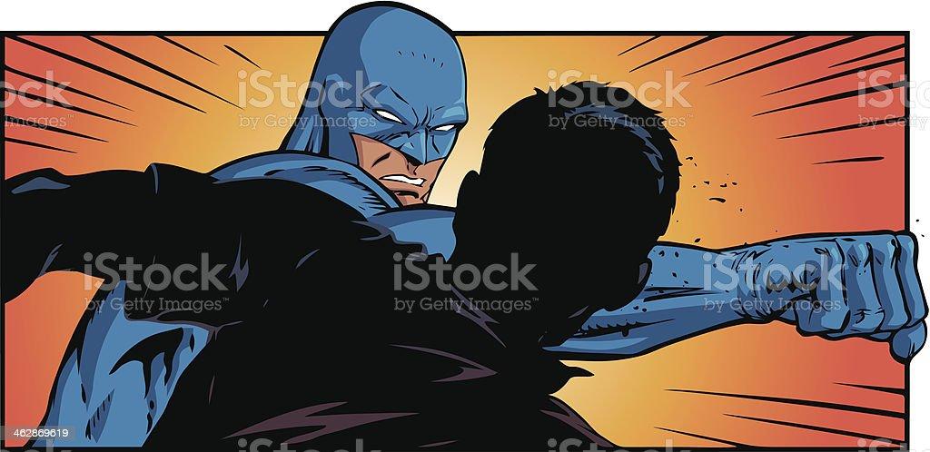 Superhero Punch vector art illustration