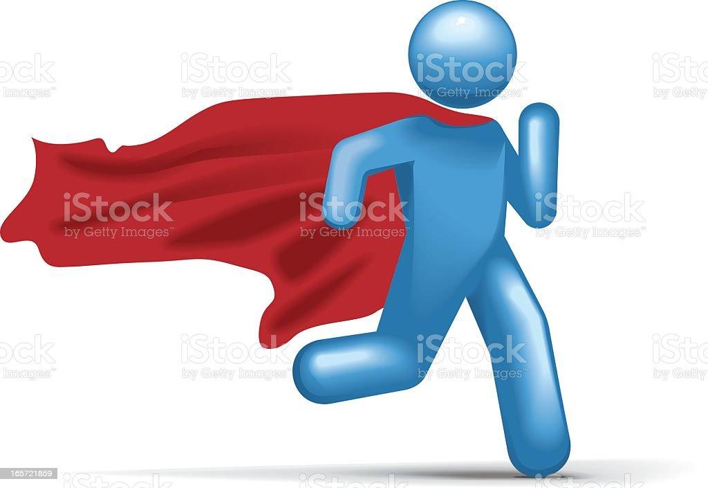 Superhero Saviour: Stickman 2.0 royalty-free stock vector art