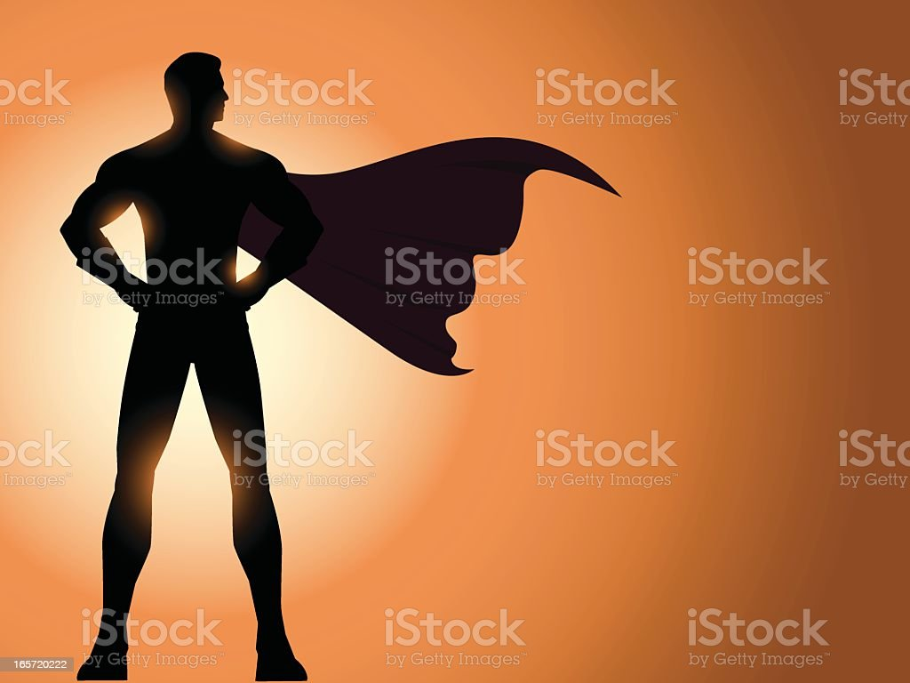 Superhero Silhouette vector art illustration