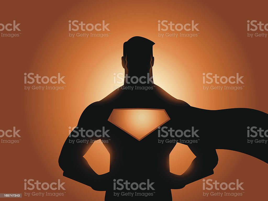 Superhero Silhouette royalty-free stock vector art
