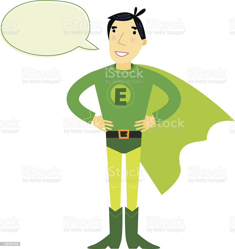 Superhero Talking vector art illustration
