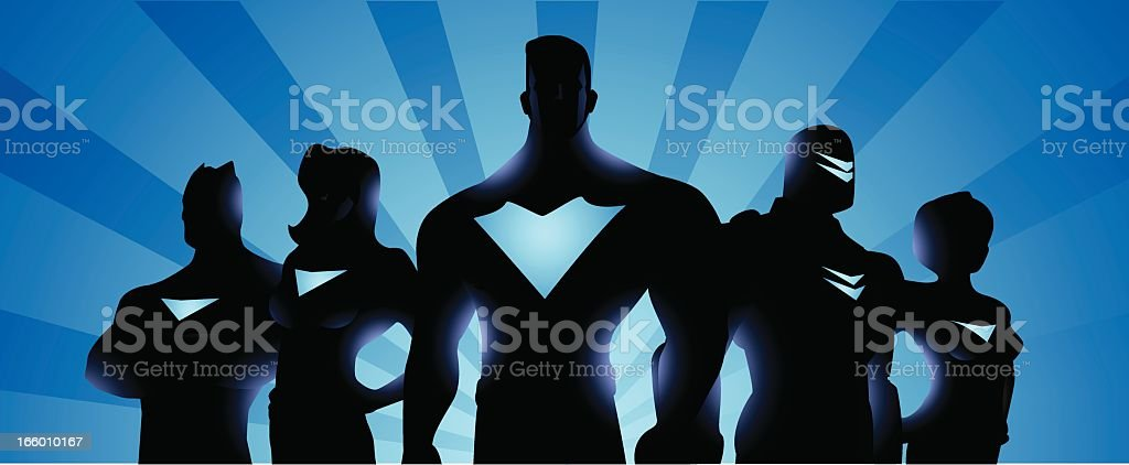 Superhero Team Banner royalty-free stock vector art