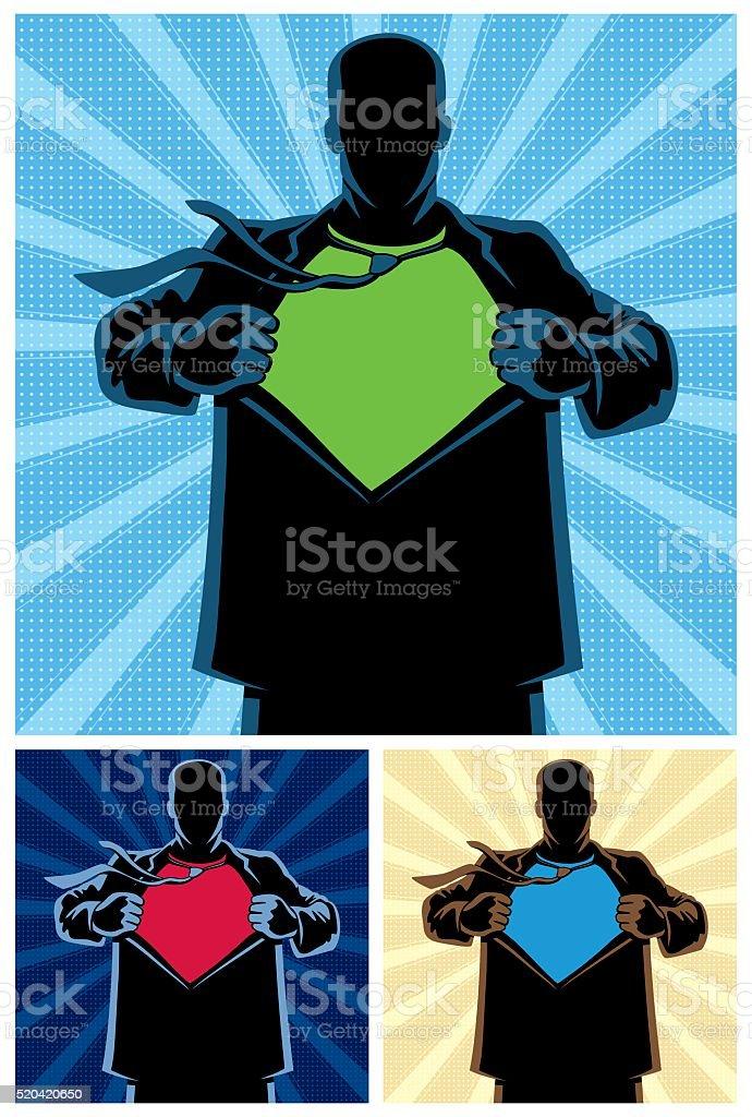 Superhero Under Cover 2 vector art illustration