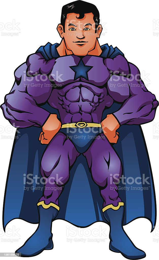 Superhero royalty-free stock vector art