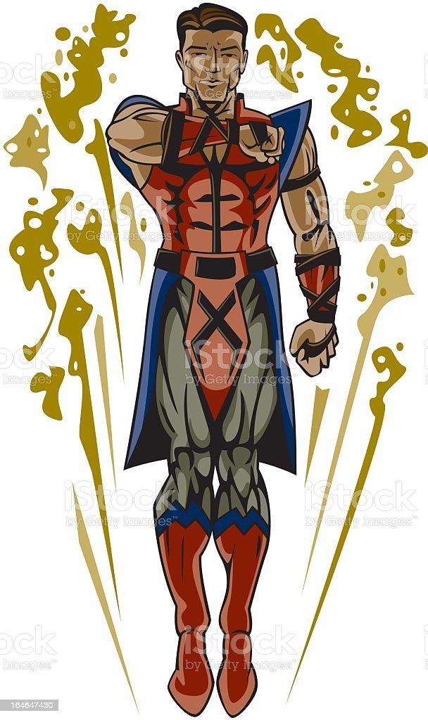 Superhero Warrior royalty-free stock vector art