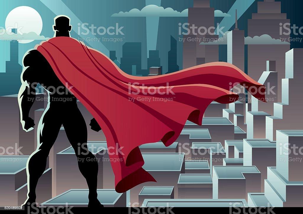 Superhero Watch 3 vector art illustration