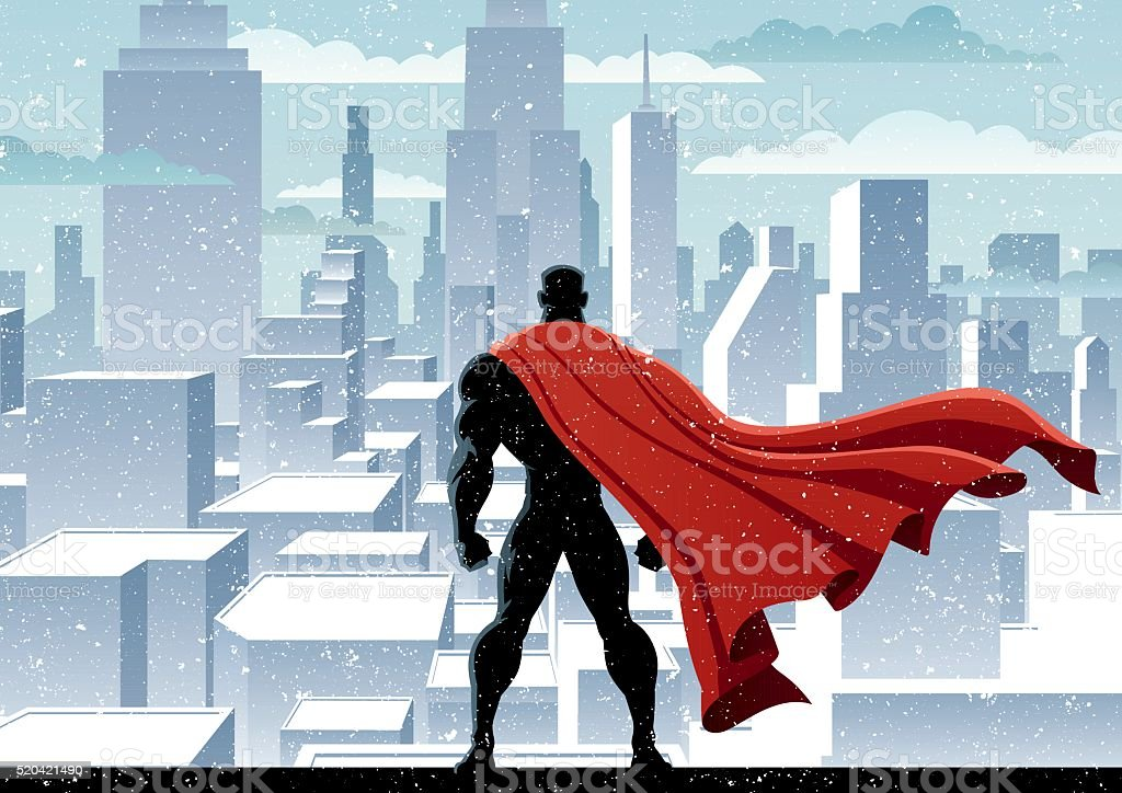 Superhero Watch vector art illustration