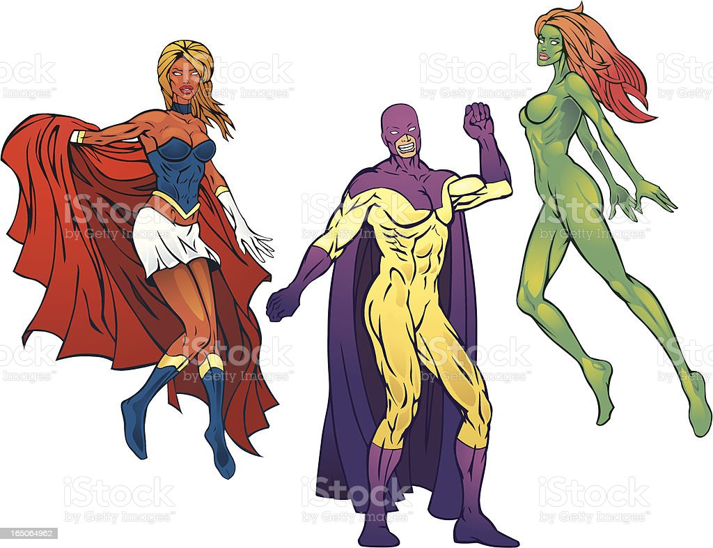 SuperHeroes Pack IV royalty-free stock vector art