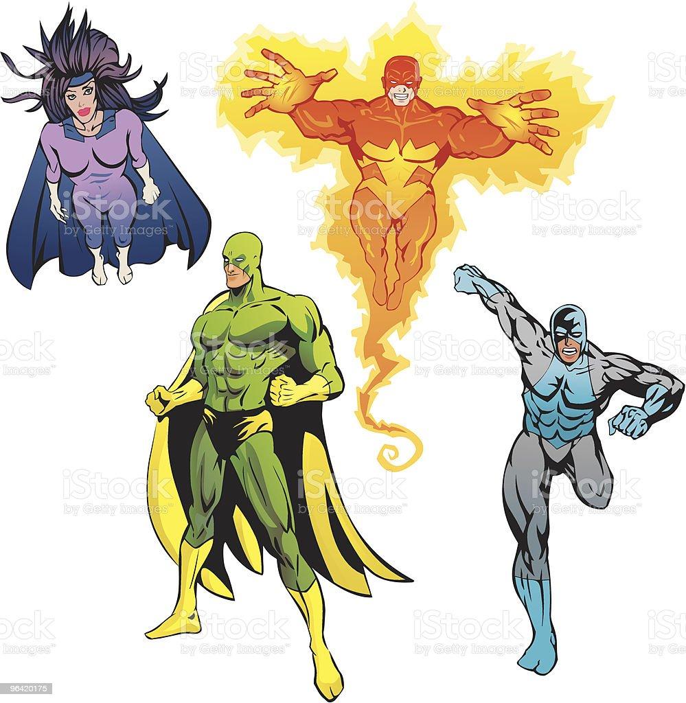 SuperHeroes Pack royalty-free stock vector art