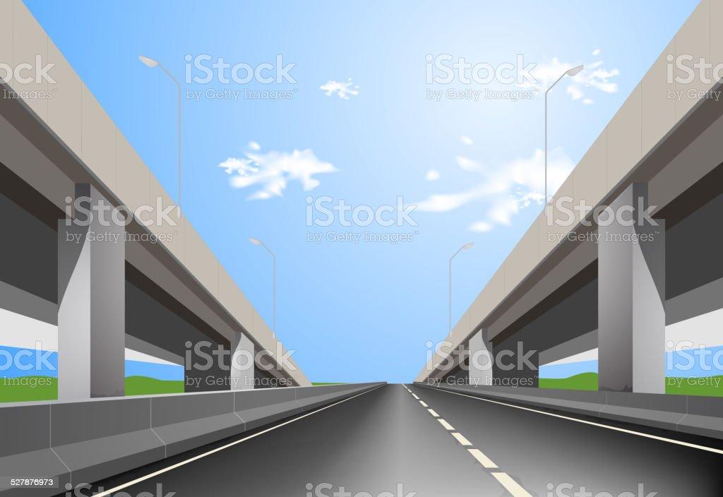 Superhigyway vector art illustration
