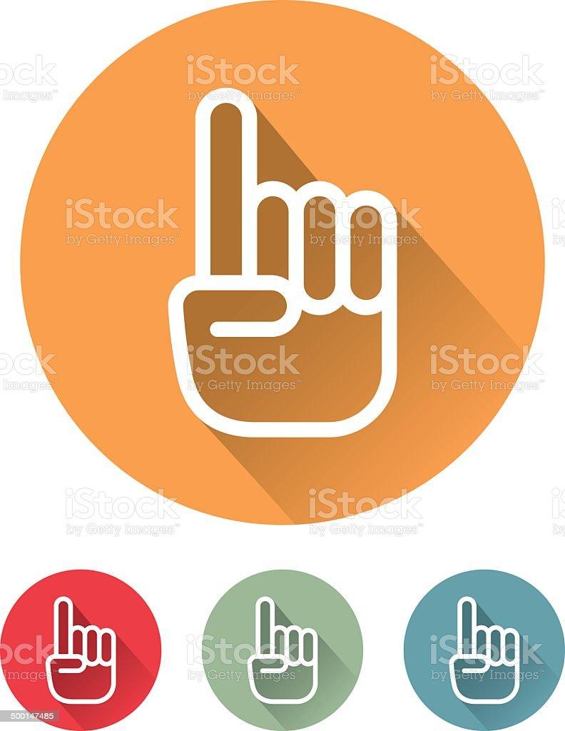 Superlight Flat Design Interface Pointing Icon vector art illustration