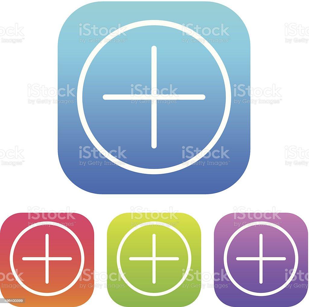 Superlight Interface Add Icon vector art illustration