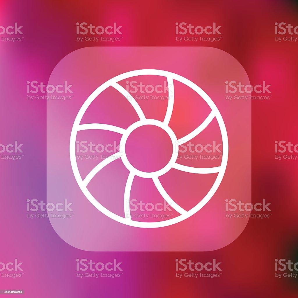 Superlight Interface Apeture Icon vector art illustration