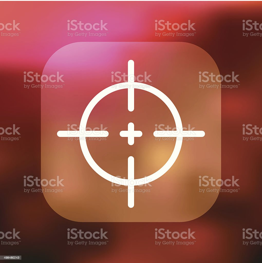 Superlight Interface Crosshairs Icon royalty-free stock vector art