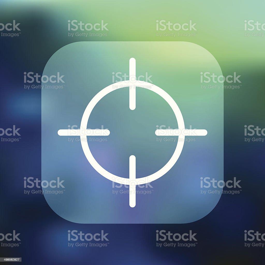Superlight Interface Crosshairs Icon vector art illustration