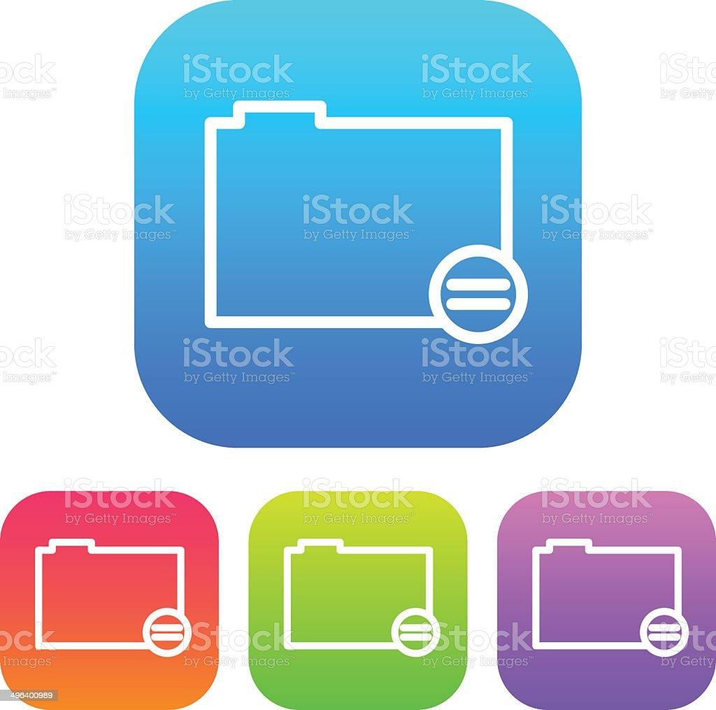 Superlight Interface Folder Icon vector art illustration