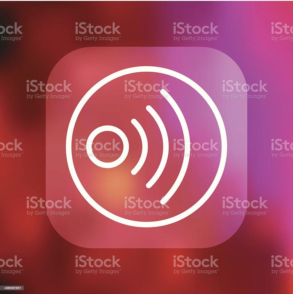 Superlight Interface RSS Feed Icon vector art illustration