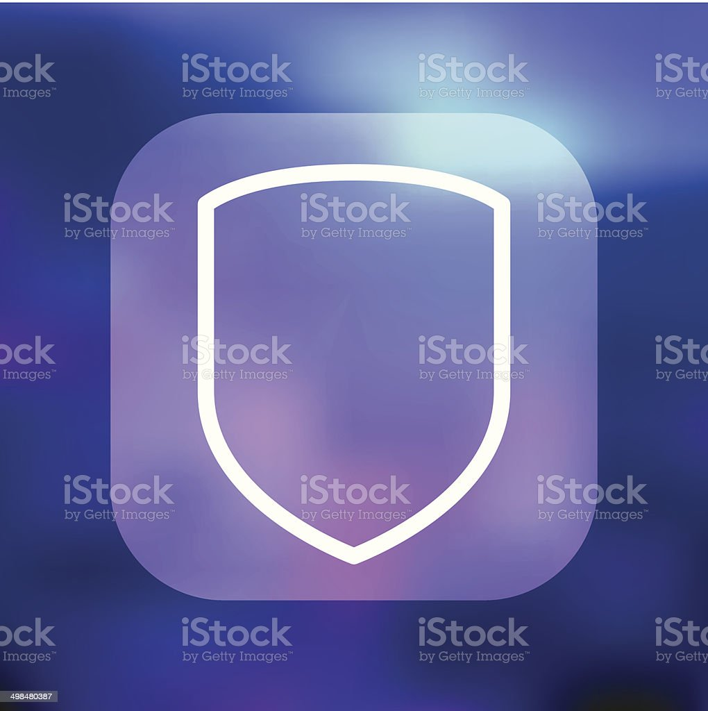 Superlight Interface Shield Icon vector art illustration