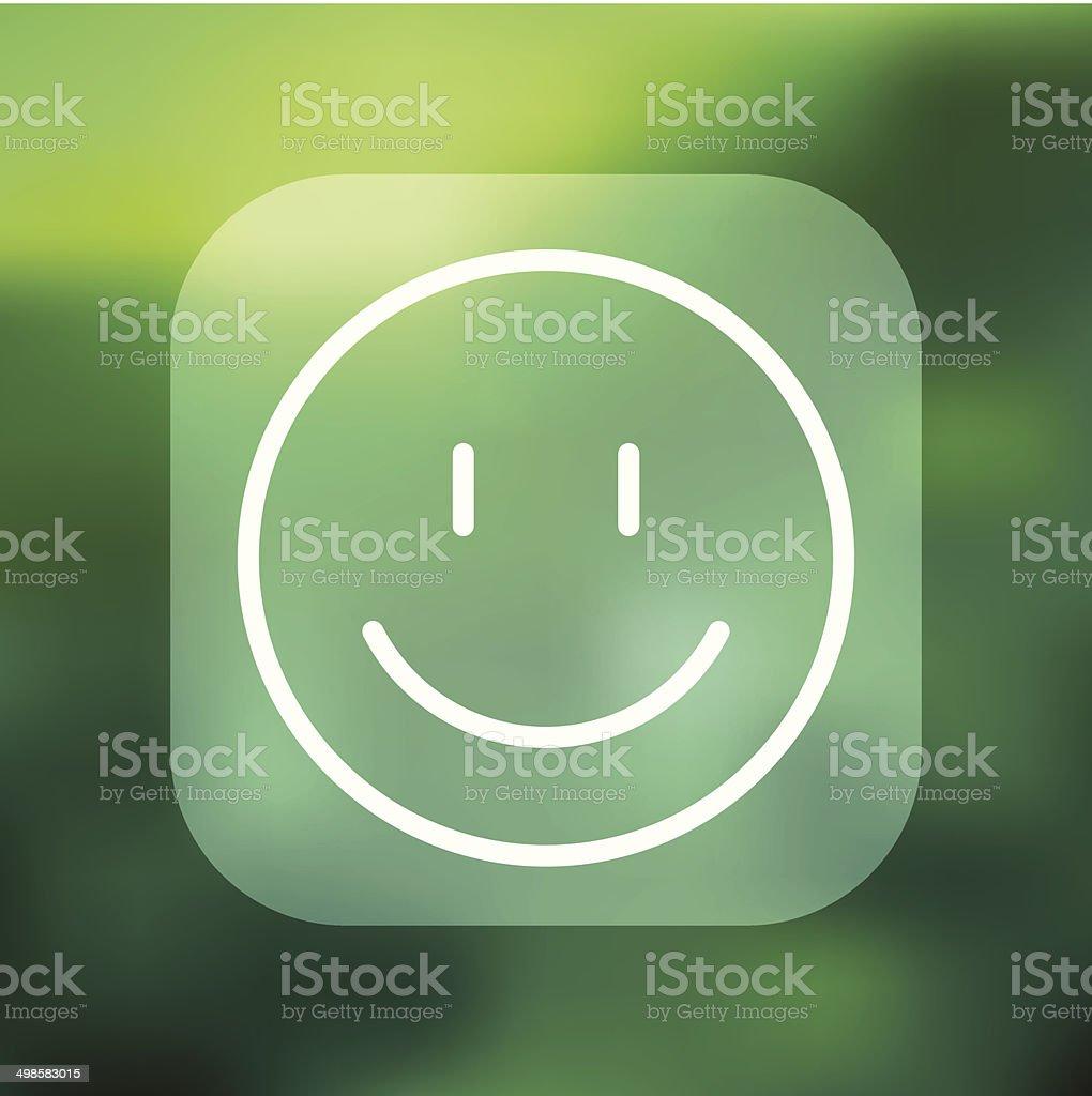 Superlight Interface Smiley Face Icon vector art illustration