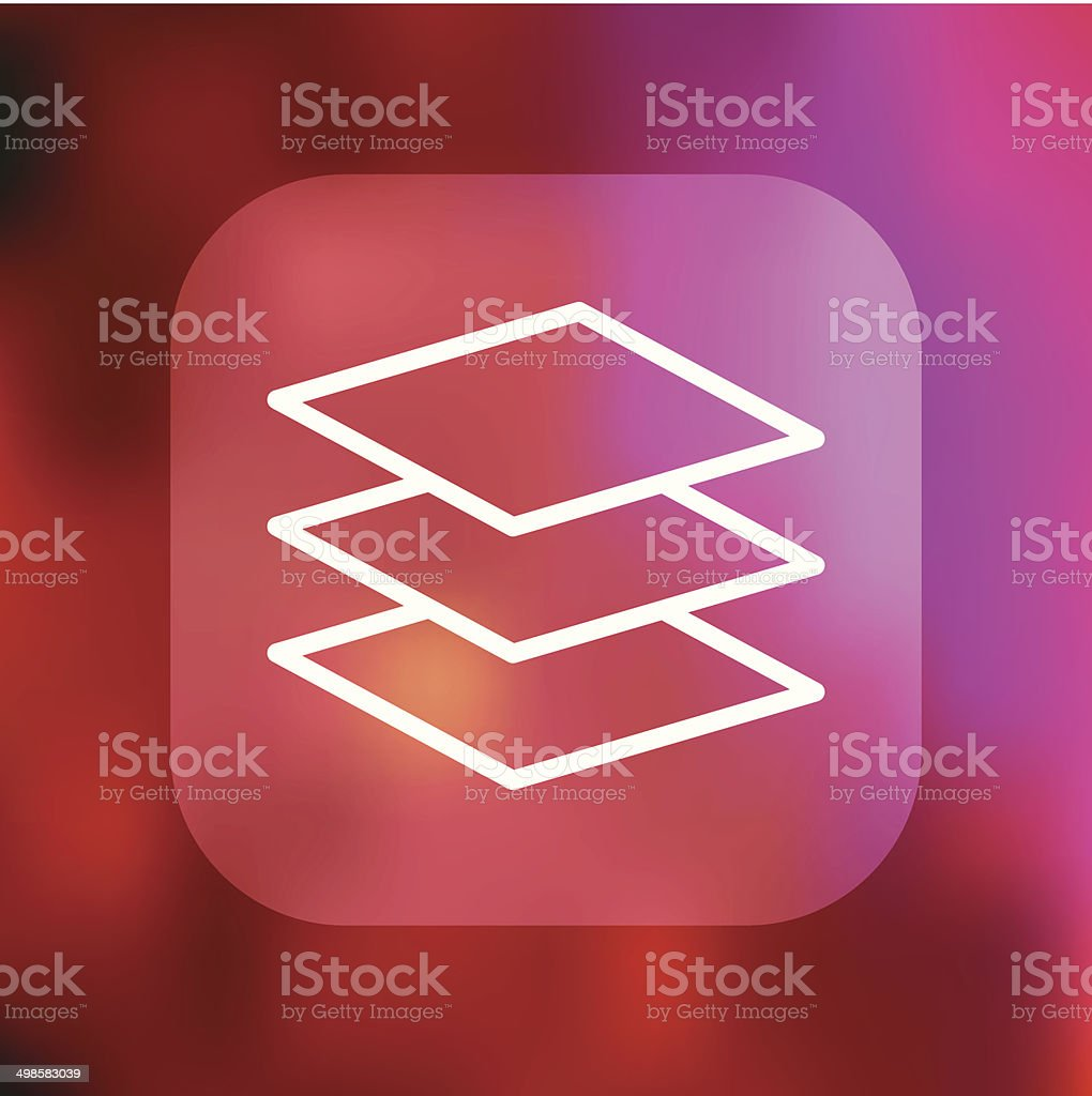 Superlight Interface Stack Icon vector art illustration