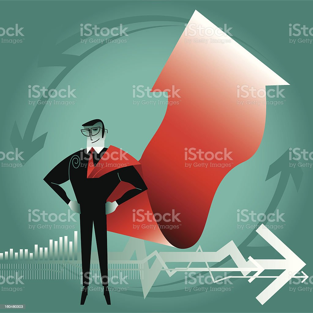 Superman in Business royalty-free stock vector art