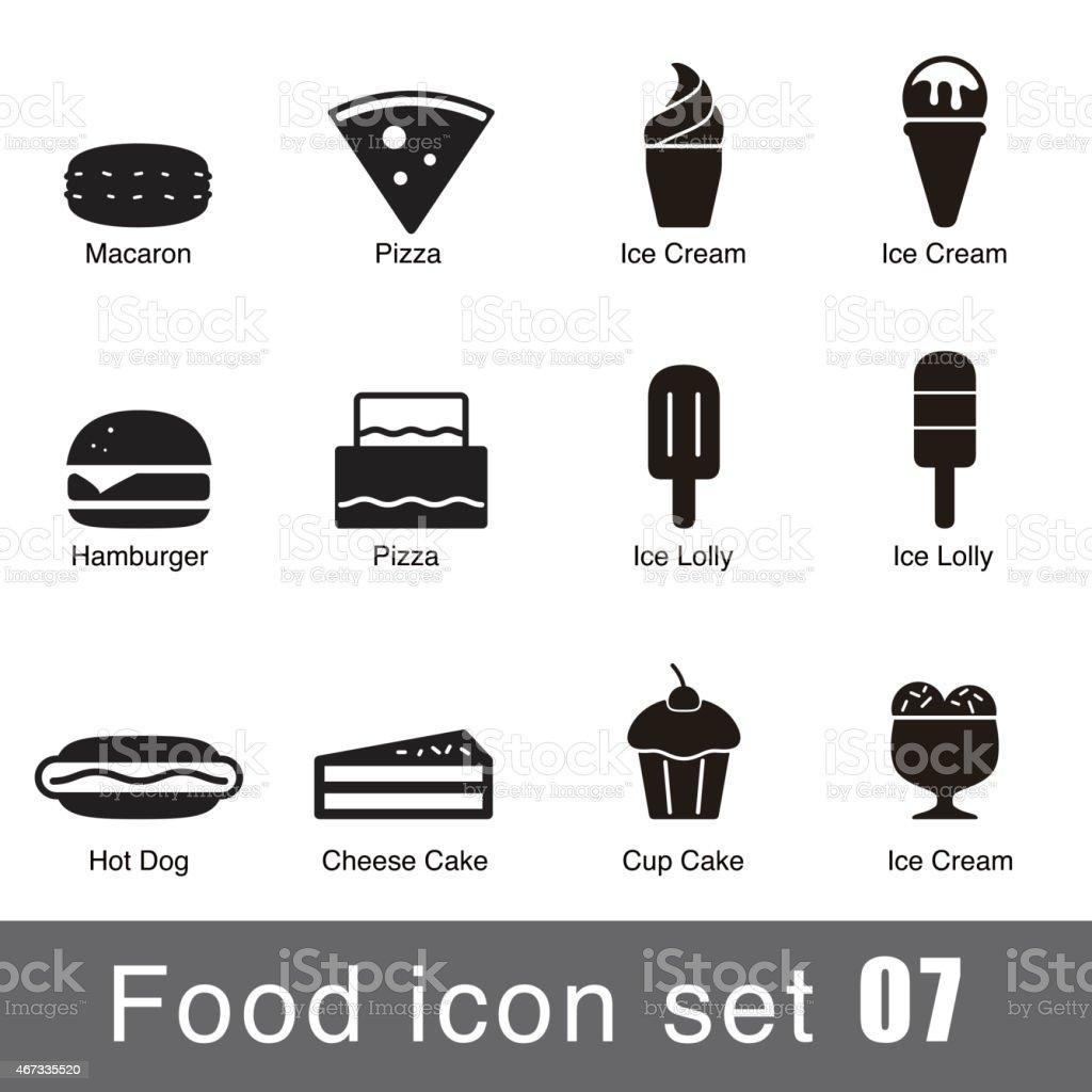 Supermarket Food flat icon set design vector art illustration