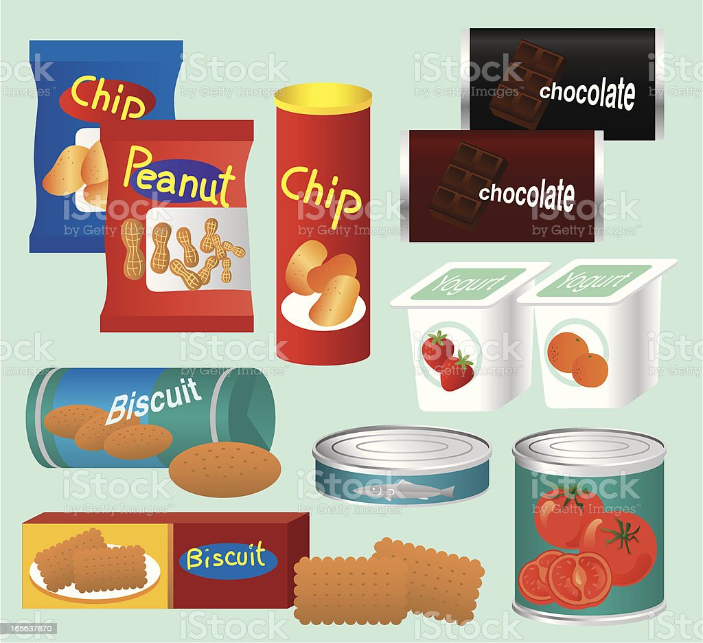 Supermarket Grocery vector art illustration