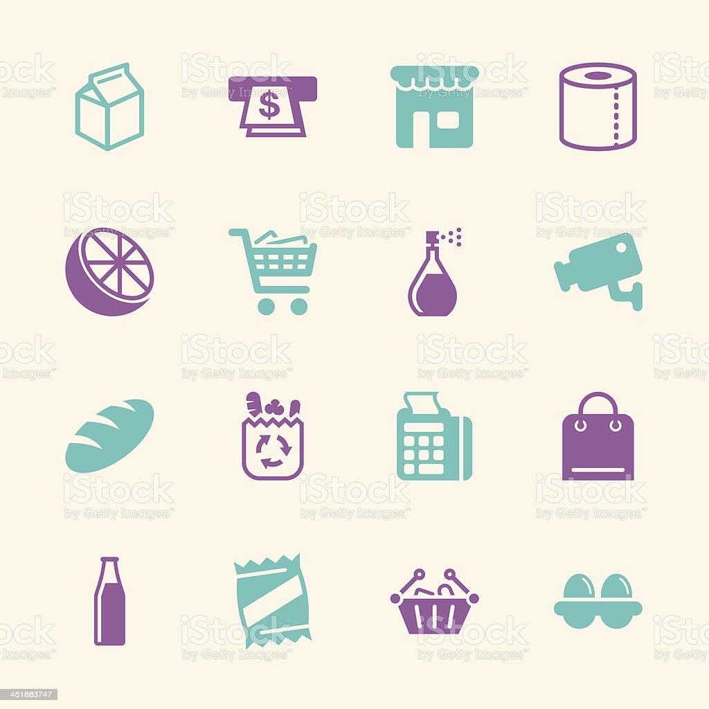 Supermarket Icons - Color Series | EPS10 vector art illustration