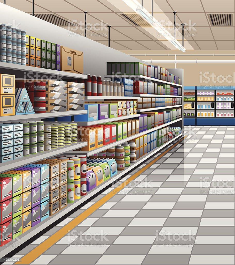 Supermarket - Illustration vector art illustration