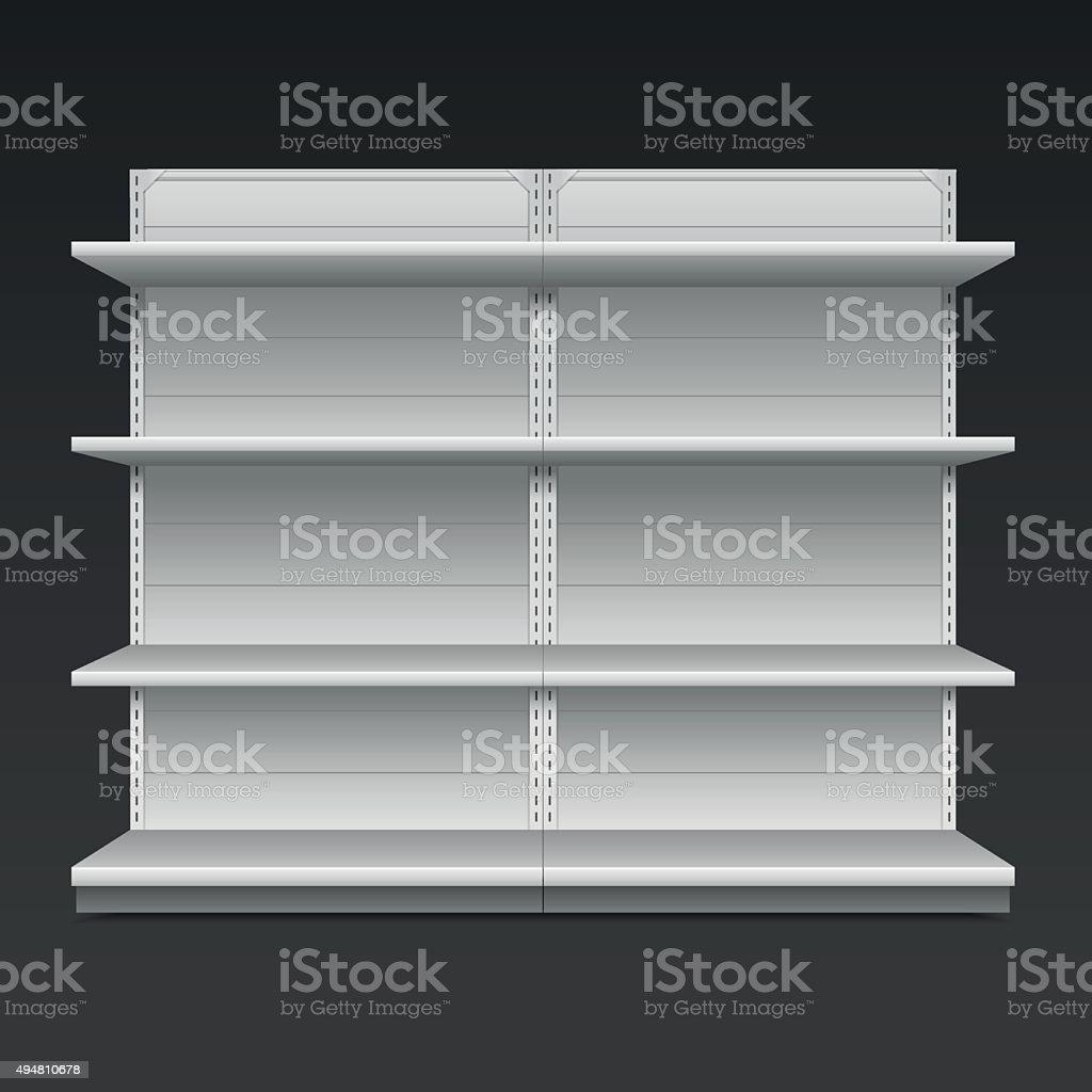 Supermarket shelf. Vector illustration vector art illustration